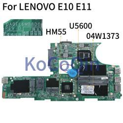 KoCoQin Laptop motherboard For LENOVO Edge 11 E10 E11 U5600 Mainboard 04W1373 DA0FL6MB8D0 HM55