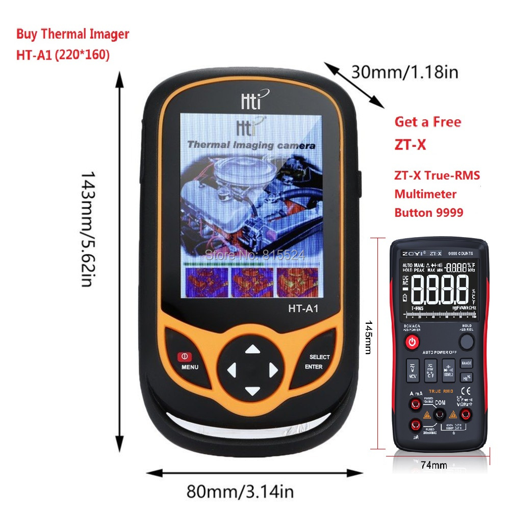 HT-A2 TFT Thermal Camera With Display Screen For Temperature  Measuring Tools 1