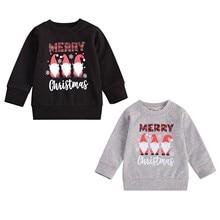 Sweatshirt Baby-Girl Kids Toddler 3 Pudcoco Boy Winter Letter Xmas Merry-Christmas Long-Sleeve