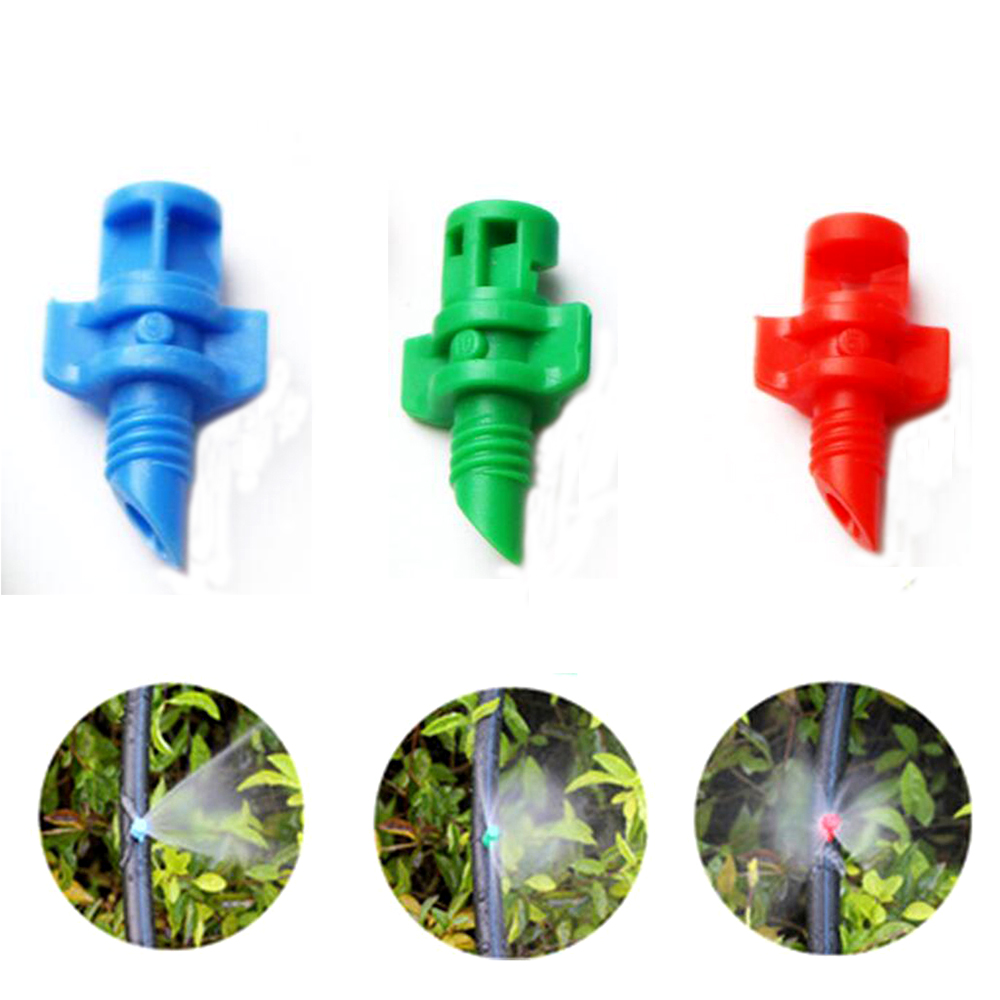 50PCS Garden Irrigation Simple Refraction nozzle Watering Flower Mist Nozzle Threaded connection 90 180 360 Degrees Sprayer