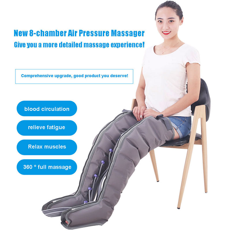 Eight-chamber Air Pressure Leg Massager Promotes Blood Circulation, Body Massager, Muscle Relaxation, Lymphatic Drainage Device