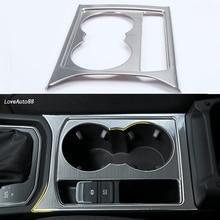 цена на Car ABS chrome Full Water Cup Holder frame Gear Panel Handbrake Cover Trim Accessories For VW Volkswagen Touran 2016 2017 2018