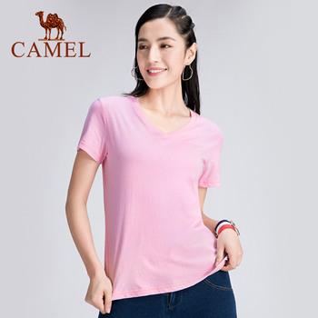 CAMEL Outdoor Summer Casual Clothes Women #8217 s Clothing Men #8217 s T-shirt Fitness Unisex Breathable Men Women T-shirts tanie i dobre opinie Wiosna Lato AUTUMN COTTON Pasuje prawda na wymiar weź swój normalny rozmiar J0S2XN160 J0S1XN161