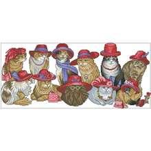 Одежда для всей семьи с котом красные шапки котелки счетный