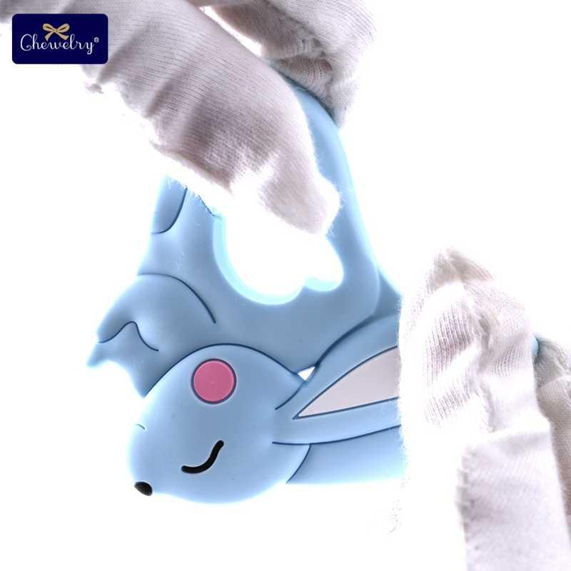 10pc תינוק סיליקון Teether מכרסמים סיליקון בעלי החיים שועל מוצץ שיניים תליון BPA משלוח סיליקון חרוזים ללעוס Biter ילדי מוצרים
