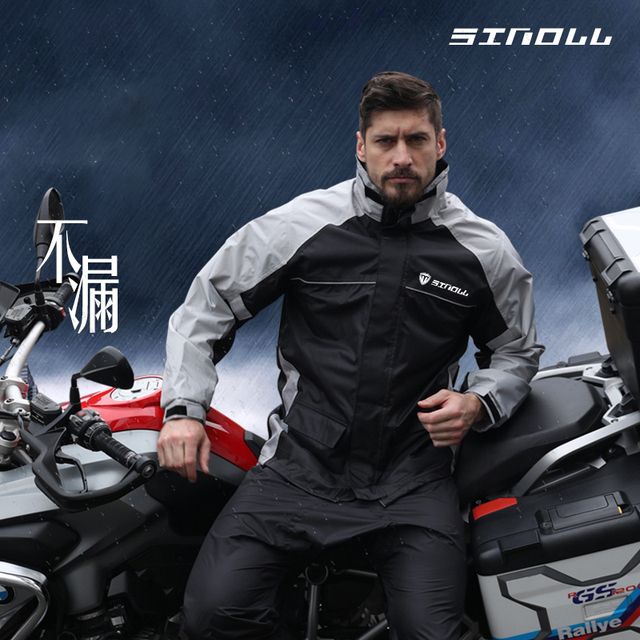Adult Nylon Motorcycle Raincoat Rain Pants Suit Rain Coat Thin Body Waterproof Jacket Rain Clothes Hiking Rainwear Gift Ideas 4