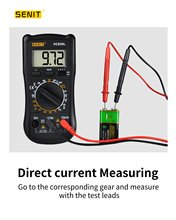 Senit VC830L Digital Multimeter with AC/DC Current/Voltage, Resistance, Frequency and Capacitance Tester,LCD backlight display