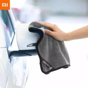 Image 3 - Xiaomi Youpin Nanofibre di Pulizia Asciugamano No Segni di Acqua Non Danneggia La Vernice Auto Tovagliolo di Lavaggio