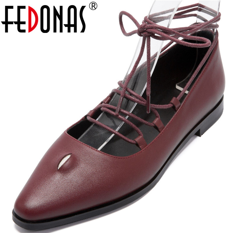FEDONAS Classic Design Women Party Night Club Pumps Spring Summer Cross-Tied Square Heels Shoes Point Toe 2020 Shoes Woman