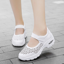 Hot Selling Summer New Style Women's Outdoor Sneakers Comfortable Breathable Hollow Casual Shoes Sports Mesh  Womans White Shoes
