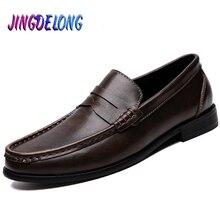 ¡Novedad de 2019! mocasines de cuero para hombre, zapatos de vestir de fiesta a la moda, zapatos de ocio de negocios para hombre, zapatos transpirables cómodos para hombre, calzado de barco