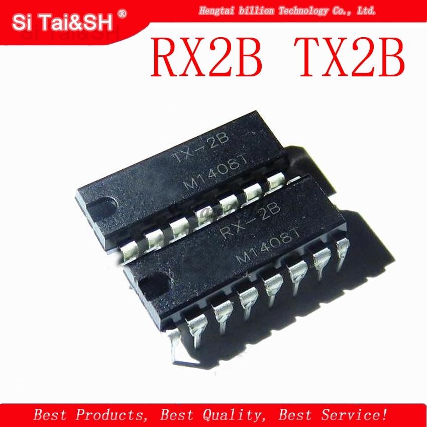 2pcs/lot 1Pairs RX-2B + TX-2B RX-2 TX-2 DIP-16 RX2B TX2B