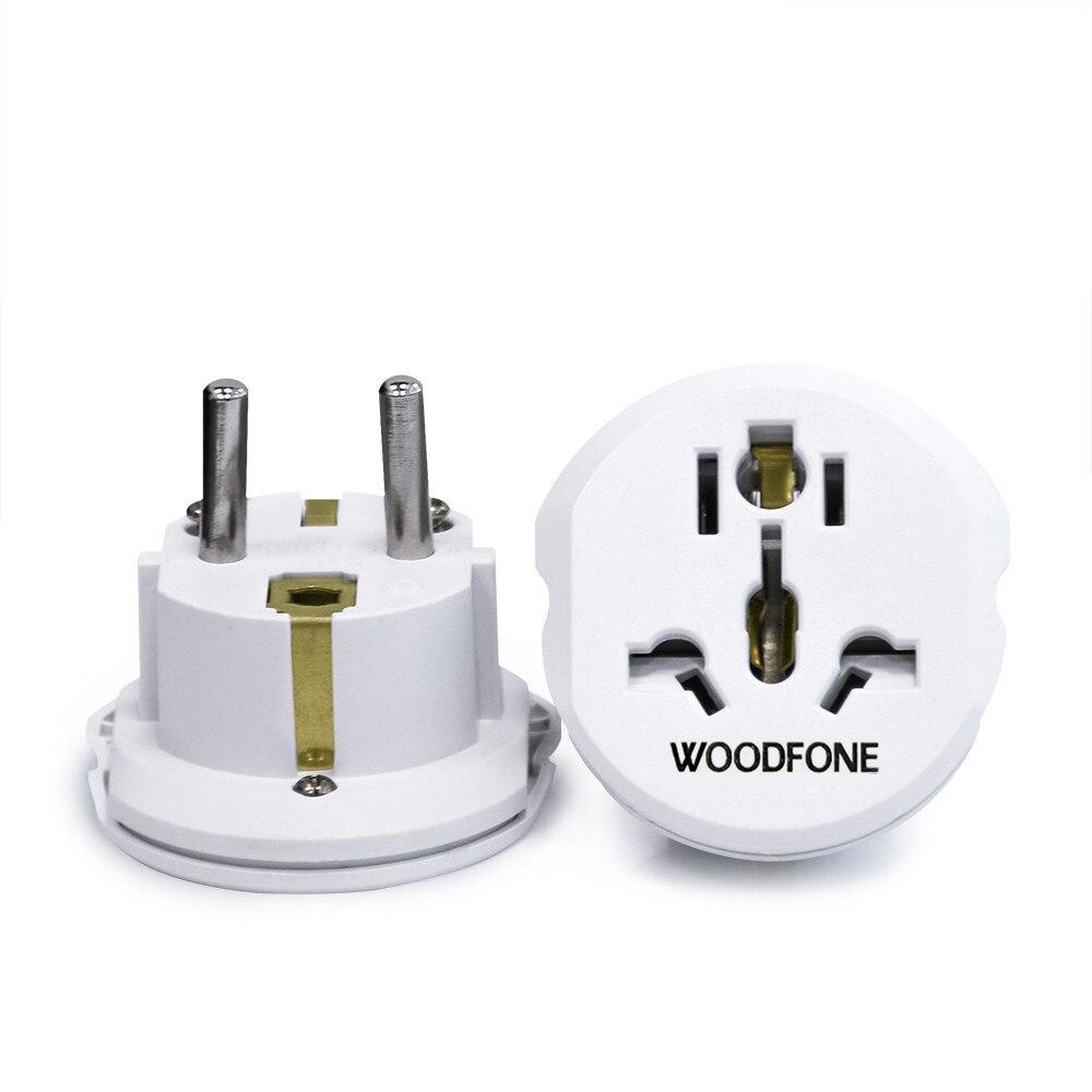 Woodfone ue euro plugue de alimentação adaptador universal eua ua reino unido para europeu de alemanha viagem plug 250v 16a conversor tomada elétrica