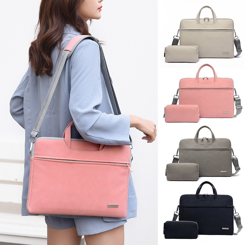 Dihope  Men Women Laptop Bags Notebook Carrying Case Briefcase For Macbook Air 13.3 14 15.6 Inch Handbags Shoulder Mouse Bag