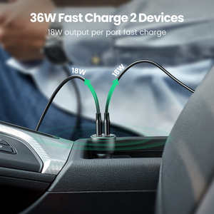 Image 5 - Ugreen Quick Charge 3.0 36W QC Car Charger for Samsung S10 9 Fast Car Charging for Xiaomi iPhone QC3.0 Mobile Phone USB Charger