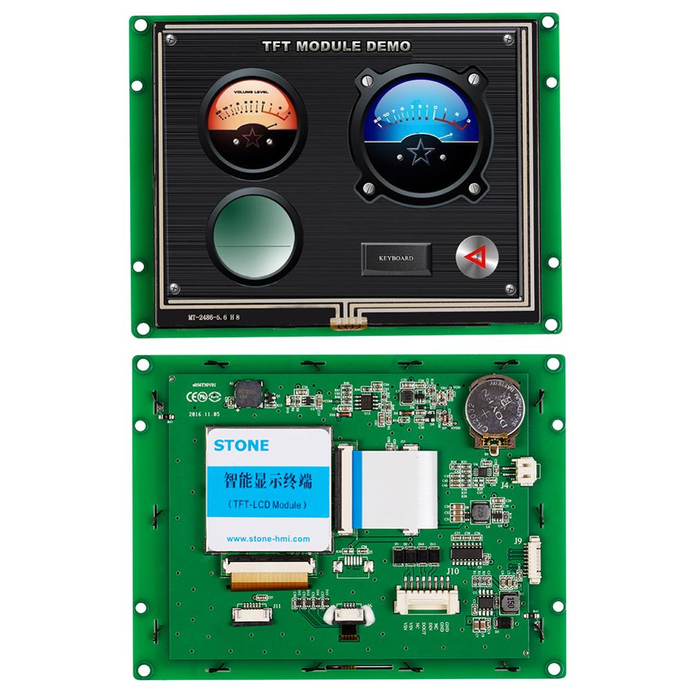 STONE 5.6 Inch TFT LCD Display Screen Controller RS485 UART +Touch Screen For Smart Home