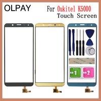 """Olpay 5.7 """"polegada digitador da tela de toque do telefone móvel para oukitel k5000 touch screen sensor vidro esparadrapo livre e toalhetes Painel de toque p/ celular     -"""