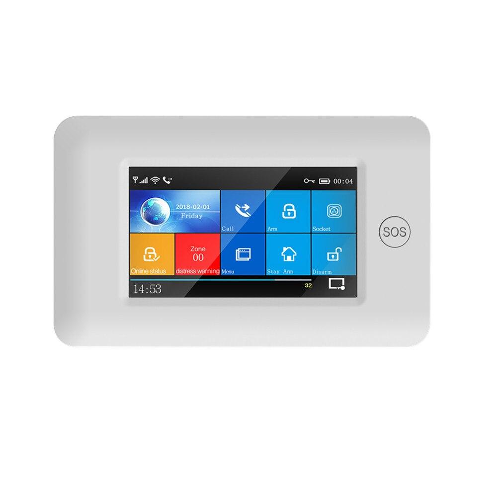 RF433Mhz WIFI GSM Wireless Burglar Home Security DIY Alarm System 4.3inch Touch Screen Alarm Kits
