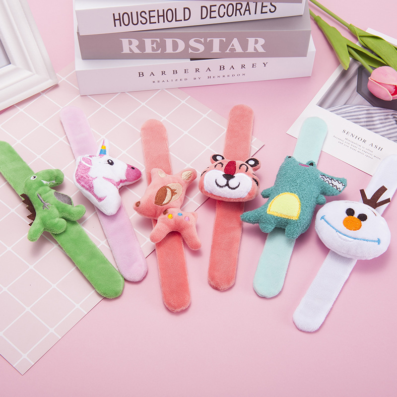 23cm,clap Your Hands Clap Circle Ring Bracelet Baby  Shake Wristbands Soft Fluffy Cute Cartoon Animals  Gifts For Children