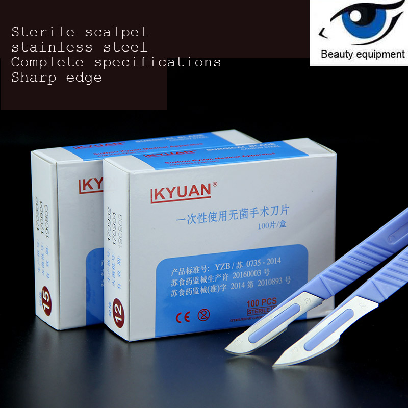 Disposable Blade Carbon Steel Sterile Blade No. 11 High Quality Export Blade No. 15 Plastic Handle Blade
