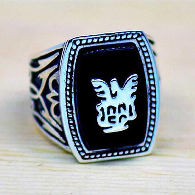 뜨거운 뱀파이어 일기 리val 블랙 패션 반지 결혼 반지 남자 스테인레스 스틸 반지 유행 보석 선물