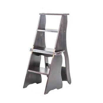 Pequeño Taburete De Cocina Plegable Banco Escalera De madera Escabeau Escaleta Merdiven silla Taburete