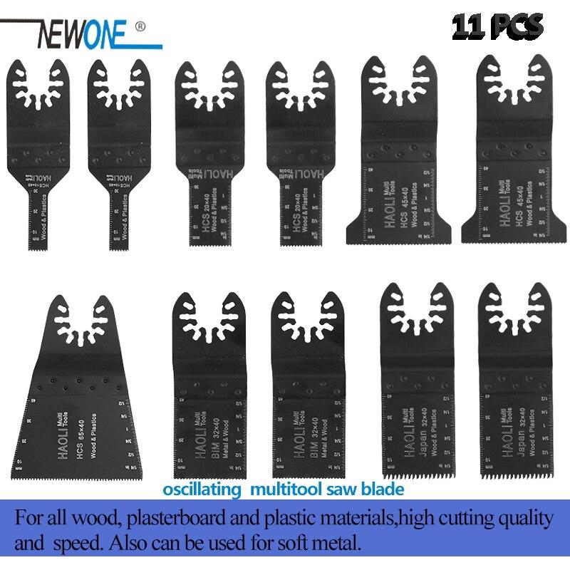Newone 11pcs Wood Metal Plastic Oscillating Multi Tool Quick Release Saw Blades Fit For Dewalt Fein Multimaster Bosch Dremel