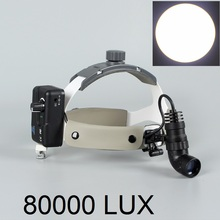 Super Bright 80000 Lux LED Dental Head Light Dentist Headlight Surgical Headlamp for Medical Surgery Rechargeable with Battery