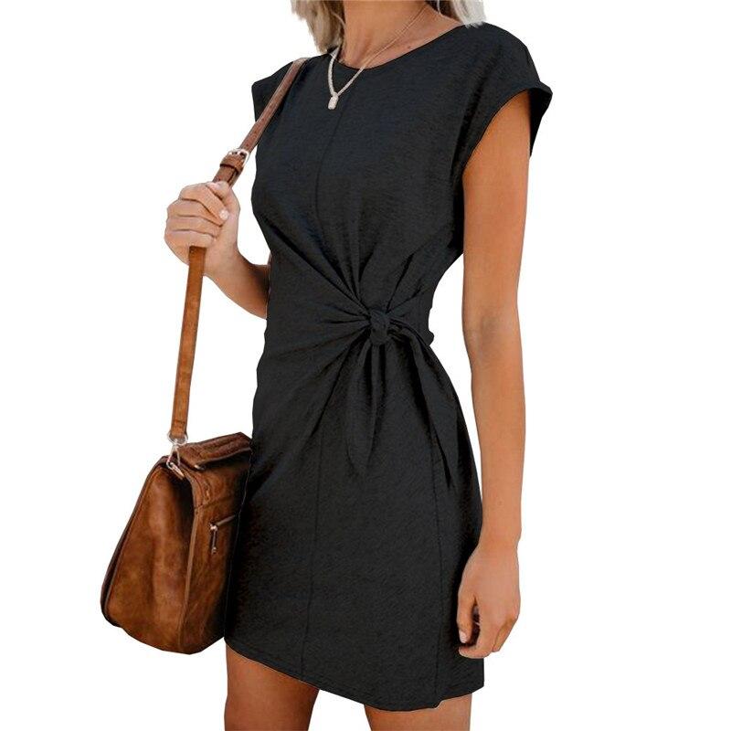 Autumn Summer Women Dress Long Short Sleeve Bodycon Dress Women Fashion Solid Black Vintage Office Mini Dress Ladies New DR1296 (12)
