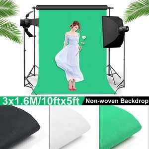 160x300 см простой фон для студийной фотосъемки нетканый однотонный зеленый экран хромированный 3 цвета ткань/Подставка