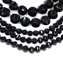 Натуральный черный шар из оникса свободные бусины энергетический