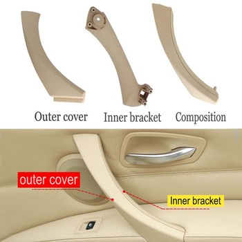Door Pull Handle Car Interior Bracket Side Panel Pull Trim Cover For BMW 3 series E90 E91 316i 318d 318i 320d 320i 51416954185 image