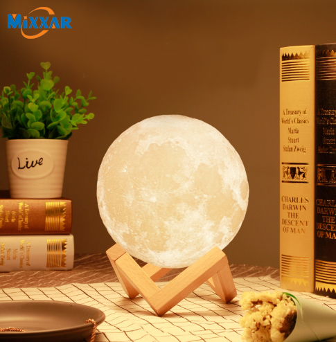 ZK20 LED Moonlight Night Light Portable Family Bedroom Table Lamp Induction Sensor Switch Moon Lamp Torch Birthday Gift