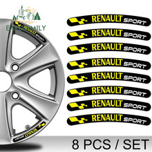 EARLFAMILY 13cm x 1.3cm 8x per Renault Sport Rim adesivi strisce ruota Set emblema auto moto Tuning Decal adesivo colla piatta