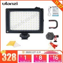 Ulanzi – Mini lampe LED pour caméra, lumière à intensité variable, pour Canon, Nikon, Sony, DSLR, Youtube, Vlogger, cardan
