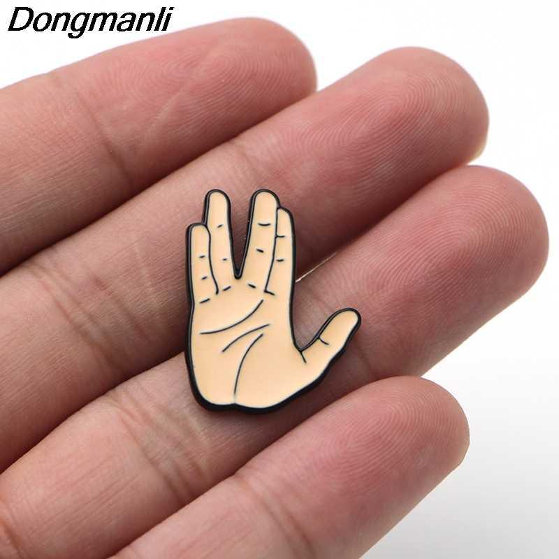 P2292 Dongmanli Ciao Brooch Dello Smalto Spille Fibbia Del Fumetto Spilla In Metallo per il Cappotto Sacchetto di Spille Distintivo Dei Monili di Regalo per I Bambini