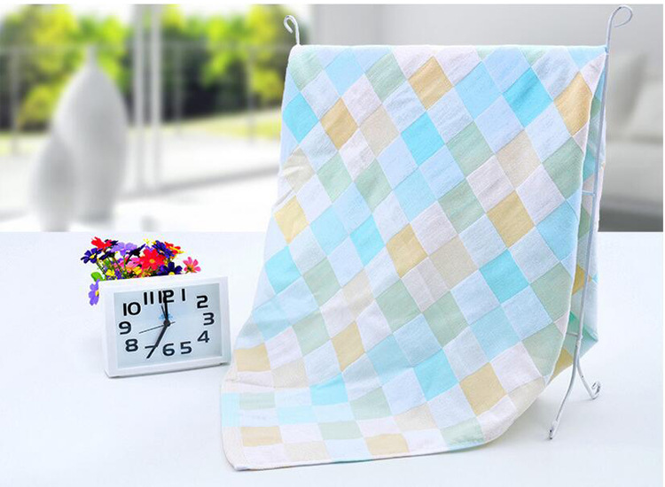 Купить с кэшбэком 4pcs/lot Cotton Double layer Gauze Kerchief Newborn Baby Square Face Towel Infant Kids Cotton Soft Towel Baby Muslin Face Towel