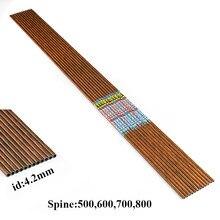 12 pçs tiro com arco 100% flechas de carbono puro espinha 500 600 700 800 id4.2mm 30 polegada arco recurvo longbow caça tiro
