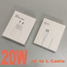 Original For Apple 20W USB-C Power Adapter Charger EU Plug Fast Charger Adapter for iPhone 8 plus X XS 11 12 mini pro max