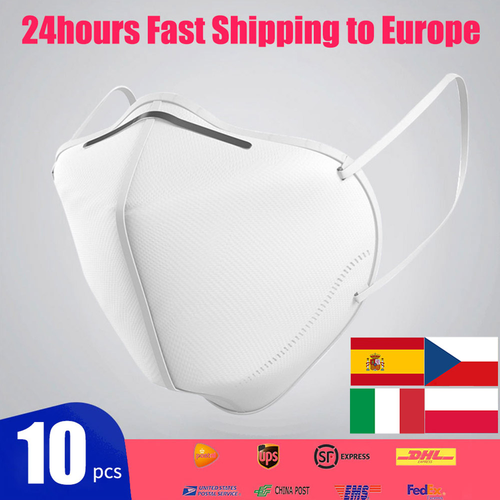 10pcs KN95 Face Dust Mask Dustproof Anti-fog And Breathable Face Mask 95% Filtration N95 Mask Respirator FFP2 Fashion Ce Mask