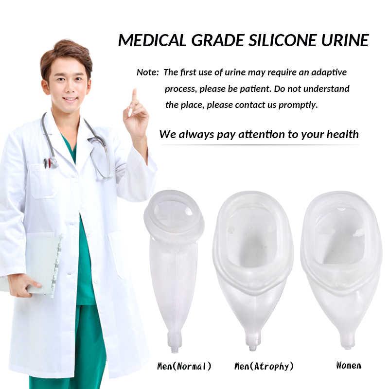 Pocket Voor Mannelijke Vrouwelijke Oude Zachte Siliconen Urine Collector Hemiplegie Ademend Urine-incontinentie Uitgeschakeld 1000Ml Urine Zak