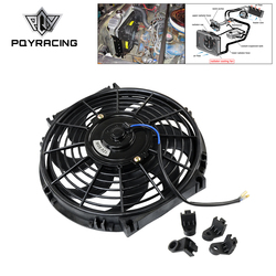 PQY - 10 Inch Universal 12V 80W Slim Reversible Electric Radiator AUTO FAN Push Pull With mounting kit Type S 10