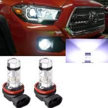 2x branco 100w h11 led luz de nevoeiro da frente lâmpadas para dodge challenger durango dart