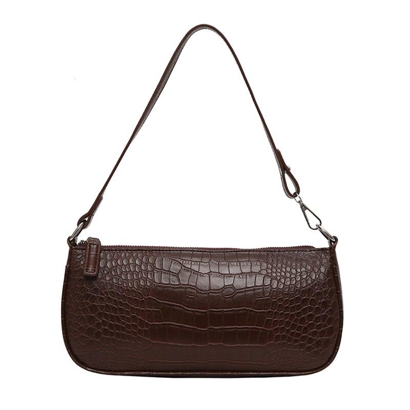 Retro Alligator Pattern Women Messenger Flap Handbags 2019 New PU Leather Street Casual Solid Zipper Shoulder Bags