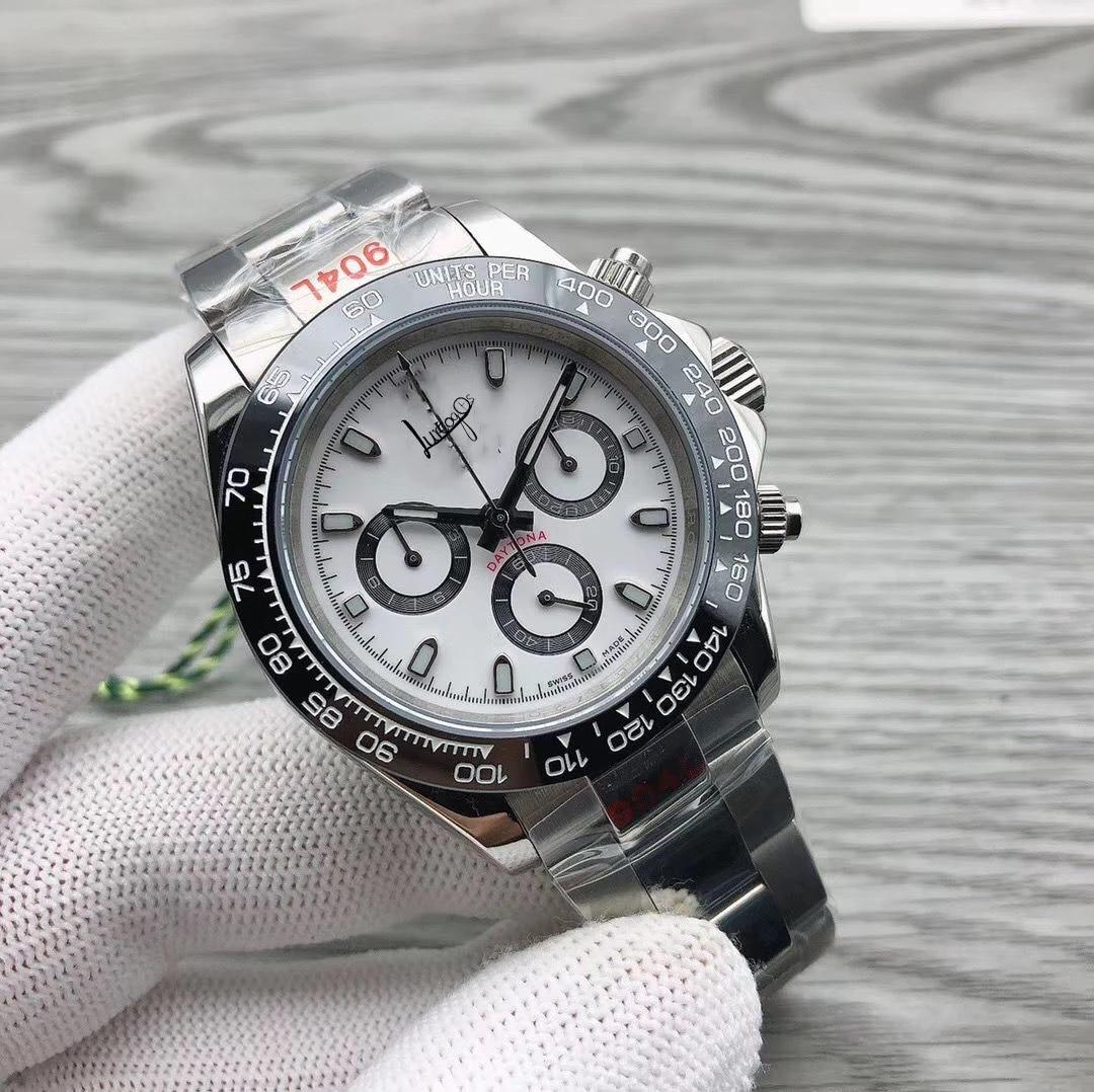 Ограниченная продажа N завод 4130 движение 904L daytona Механические часы 1:1 ультра-тонкие сапфировые циферблат Мужские часы