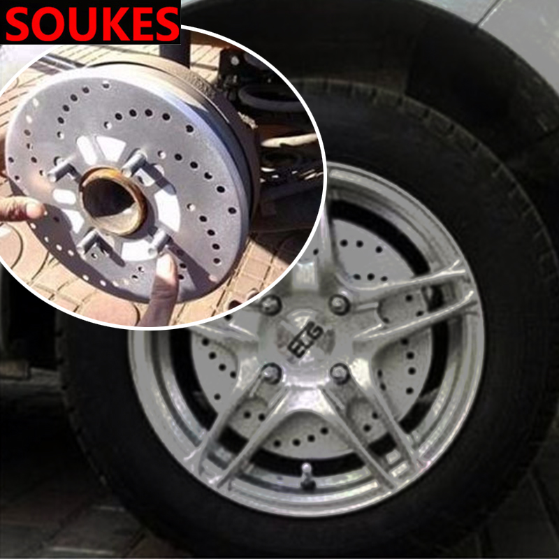 2pcs Car Tire Wheel Hub Brake Decoration Cover For Audi A3 A4 B8 B6 A6 C6 A5 B7 Q5 C5 8P Q7 TT C7 8V A1 Q3 S3 A7 B9 8L A8 80