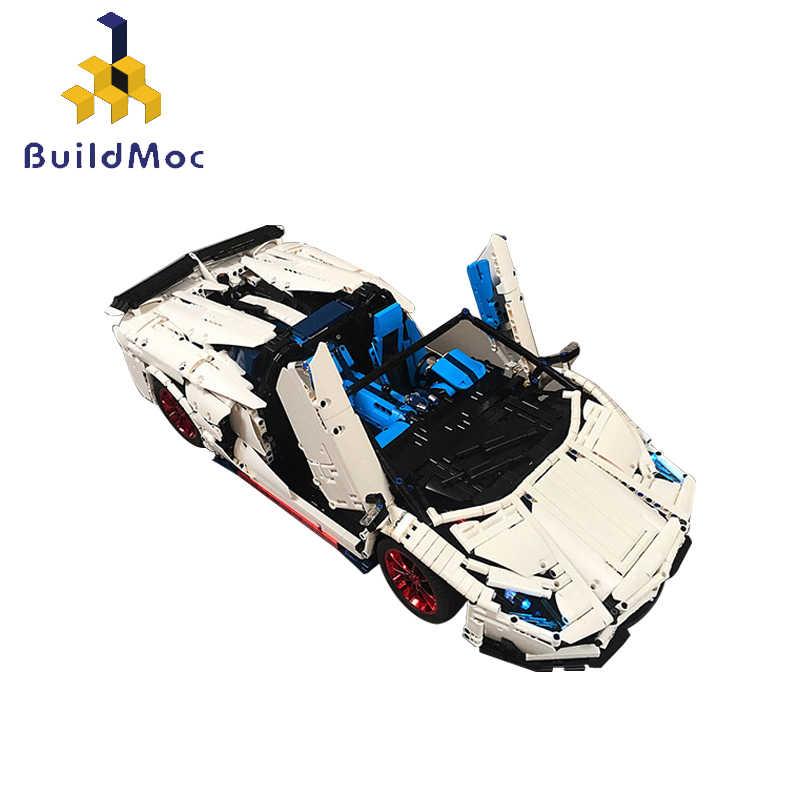 17698 MOC Technic Car Lambor Veneno SVJ Roadster функция дистанционного управления Supercar строительные блоки игрушки для детей спортивный автомобиль подарки