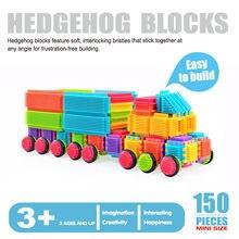 Blocos de construção de crianças, brinquedos de blocos de construção de crianças com 150 peças, brinquedos em forma de cerda 3d, blocos de construção para crianças