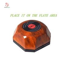 Высокое качество водонепроницаемый беспроводной Ресторан деревянная кнопка вызова, догадка вызова официанта системы, со съемным водонепроницаемым основанием