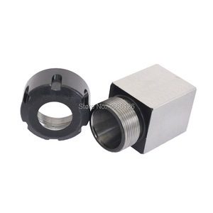 Image 4 - 1 Pcs Square ER32 ER25 ER40 Chuck Block Hard Steel Spring Chuck Seat, Suitable For CNC Lathe Engraving And Cutting Machine